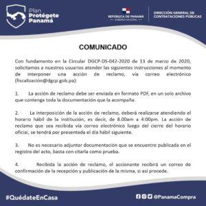 """Contrataciones Públicas """"Acción de Reclamo"""""""
